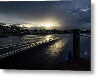 In The Wake Zone Metal Print