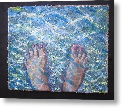 In The Water Metal Print by Tilly Strauss