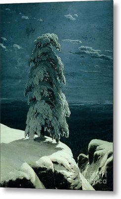 In The Wild North Metal Print by Ivan Ivanovich Shishkin