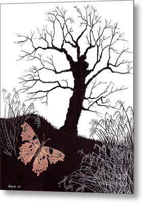 In The Winter Woods Metal Print by Stanza Widen