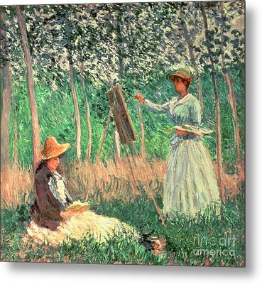 In The Woods At Giverny Metal Print by Claude Monet