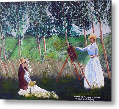 In The Woods At Giverny Metal Print by Luis F Rodriguez