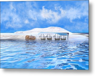 In Their Own Minds--serenity Point Metal Print by Betsy Knapp