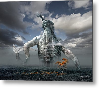 Inadvertent Metamorphosis Or King Of My Castle Metal Print by George Grie