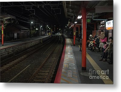 Inari Station, Kyoto Japan Metal Print