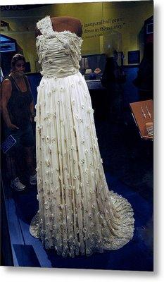 Inaugural Gown On Display Metal Print by LeeAnn McLaneGoetz McLaneGoetzStudioLLCcom