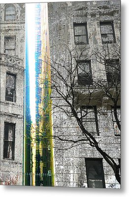 Metal Print featuring the mixed media Inbetween  by Tony Rubino
