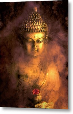 Metal Print featuring the photograph Incense Buddha by Daniel Hagerman