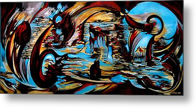 Metal Print featuring the painting Incidental Landscape With Secret Reality by Carmen Fine Art