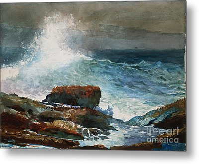 Incoming Tide Scarboro Maine Metal Print by Celestial Images