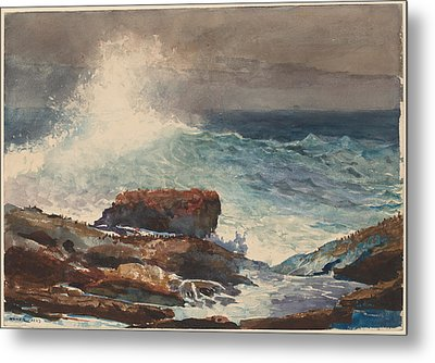 Incoming Tide - Scarboro - Maine Metal Print by Winslow Homer