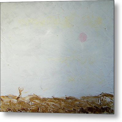 Metal Print featuring the painting Incredible Lightness Of Being by Lenore Senior
