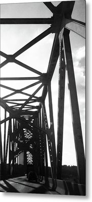 Metal Print featuring the photograph Indefinite Sight Bw by Jamie Lynn
