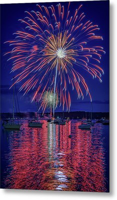 Independence Day In Boothbay Harbor Metal Print
