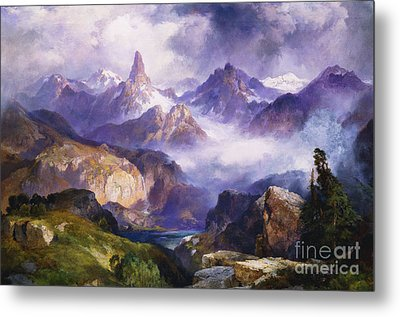 Index Peak Yellowstone National Park Metal Print by Thomas Moran