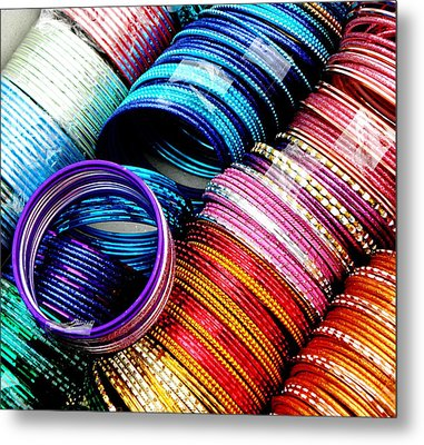 Indian Bangles Metal Print