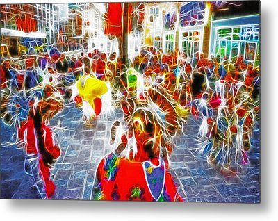 Indian Ceremonial Dance - 2002 Winter Olympics Metal Print by Steve Ohlsen