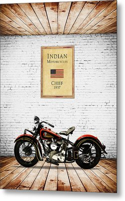 Indian Chief 1937 Metal Print by Mark Rogan