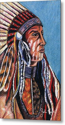 Indian Chief Metal Print by John Keaton