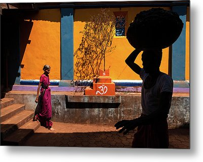 Indian Colors Metal Print by Marji Lang