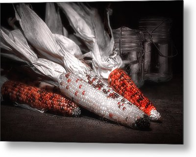 Indian Corn Still Life Metal Print