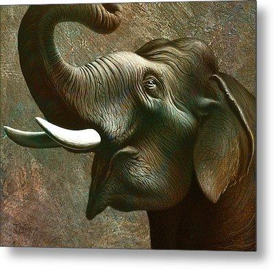 Indian Elephant 3 Metal Print by Jerry LoFaro