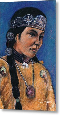 Indian Maiden Metal Print by John Keaton