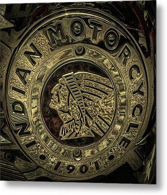 Indian Motorcycle Logo Metal Print