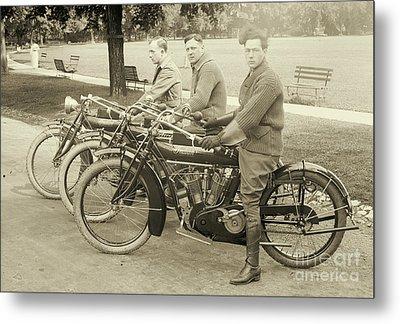 Indian Motorcycle Relay Team 1918 Metal Print by Padre Art
