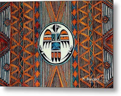 Indian Rug Metal Print by Norma Boeckler