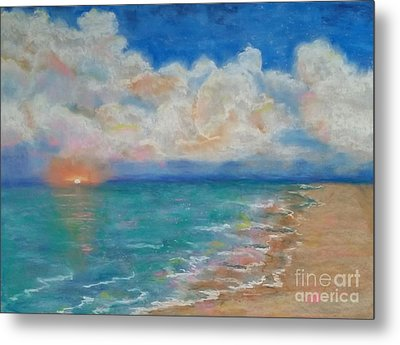 Indian Shores Metal Print by Vickie Scarlett-Fisher