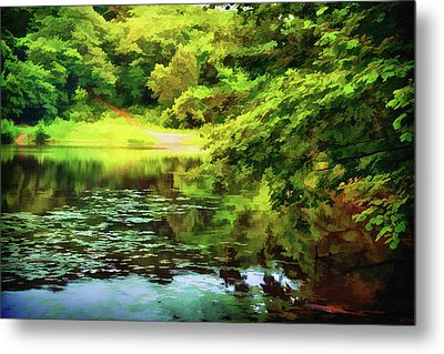 Indian Summer Lake Metal Print