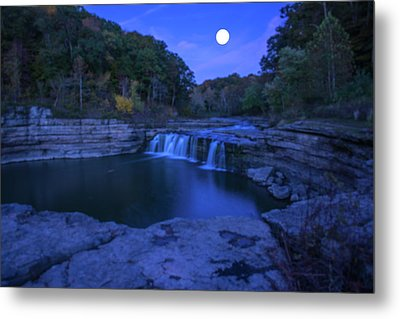 Indian Swimming Hole Moon Metal Print