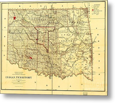 Indian Territory Metal Print by Pg Reproductions