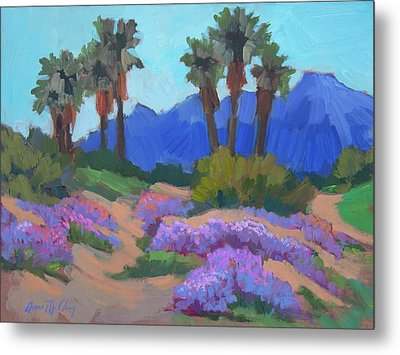 Metal Print featuring the painting Indian Wells Verbena by Diane McClary