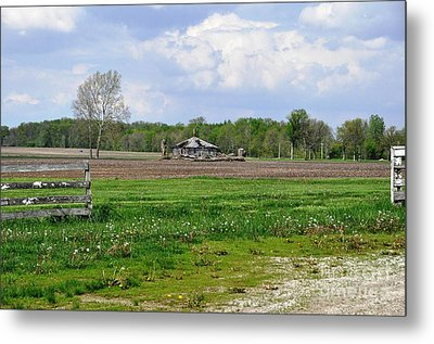 Metal Print featuring the photograph Indiana Farm by John Black