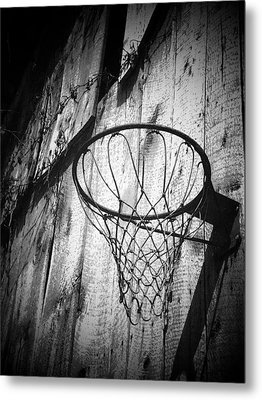 Indiana Hoop Metal Print by Michael L Kimble