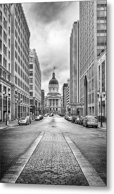 Indiana State Capitol Building Metal Print by Howard Salmon
