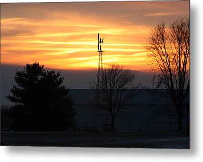 Indiana Sunset Metal Print by Bruce McEntyre