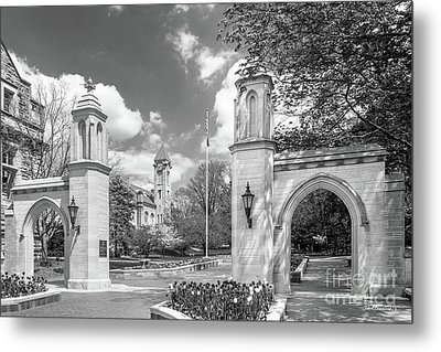 Indiana University Sample Gates Metal Print by University Icons
