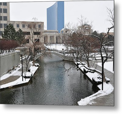Indianapolis Canal Metal Print by Beverly Cazzell