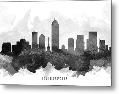 Indianapolis Cityscape 11 Metal Print by Aged Pixel