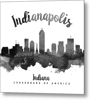 Indianapolis Indiana Skyline 18 Metal Print by Aged Pixel