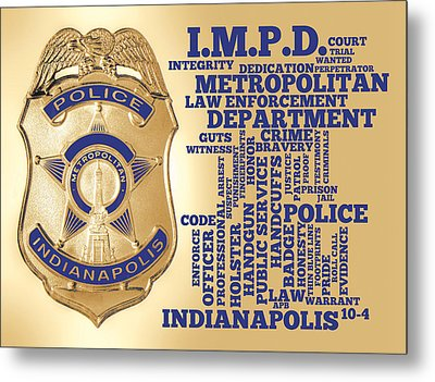 Indianapolis Metropolitan Police Department Gold Metal Print