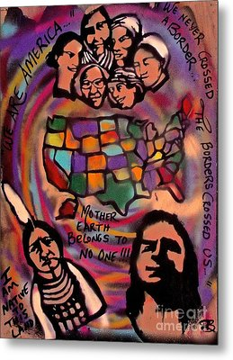 Indigenous America 101 Metal Print by Tony B Conscious