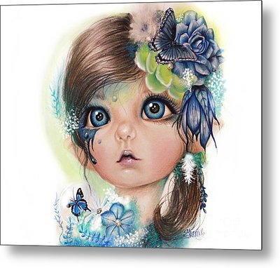 Indigo - Butterfly Keeper - Munchkinz By Sheena Pike  Metal Print