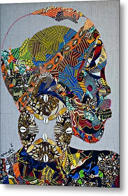 Indigo Crossing Metal Print by Apanaki Temitayo M