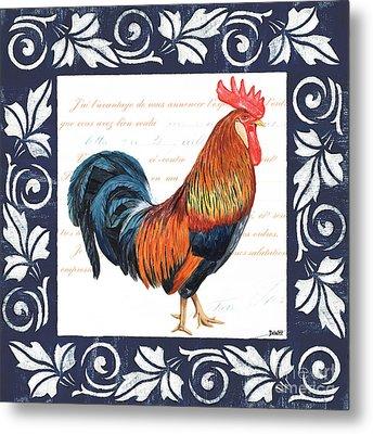 Indigo Rooster 1 Metal Print