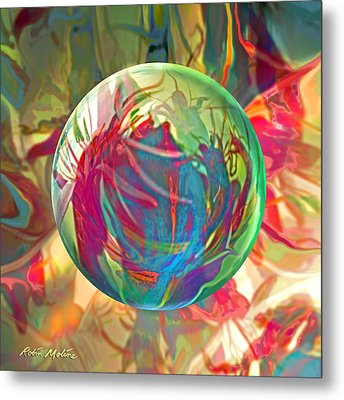 Metal Print featuring the painting Indigofera Tinctorbia by Robin Moline