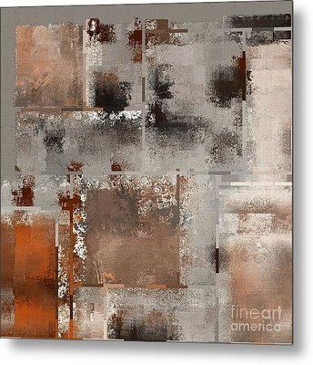 Industrial Abstract - 01t02 Metal Print by Variance Collections